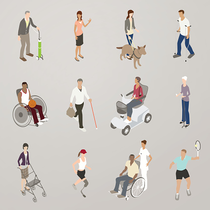 People with Disabilities Illustration