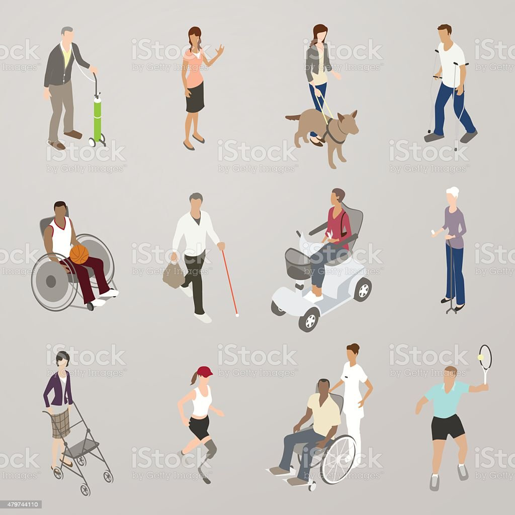 People with Disabilities Illustration vector art illustration