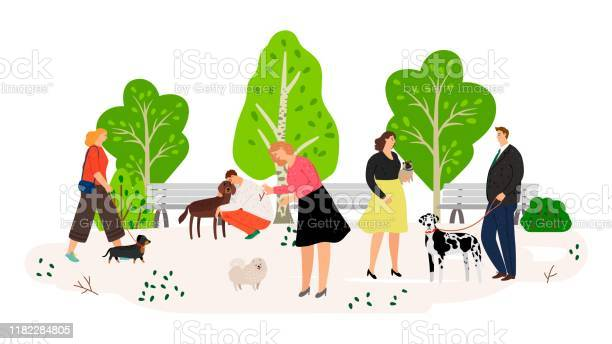 People with dogs in park flat vector illustration vector id1182284805?b=1&k=6&m=1182284805&s=612x612&h=uuriocq461dywiybflctwkhwzd4mmatsxzdma396j s=