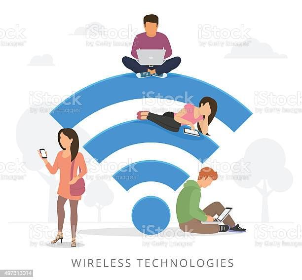 People with gadgets using wifi outdoors vector id497313014?b=1&k=6&m=497313014&s=612x612&h=muxuy8javjrky ieazhvoce80p13z hqxap3huudkqi=