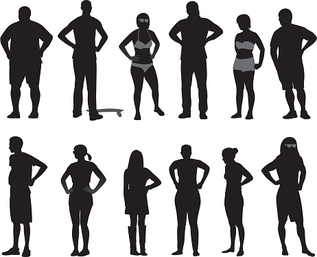 People with Hands on Hips Silhouettes 2