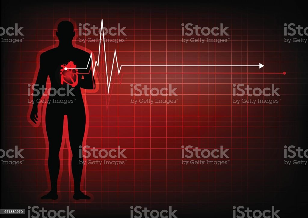 people with heart disease abstract background vector art illustration