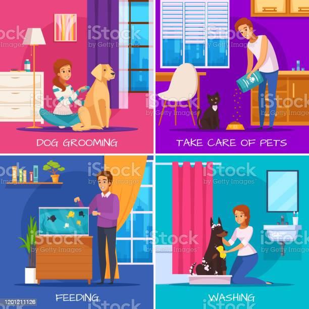 People with pets cartoon 2x2 vector id1201211126?b=1&k=6&m=1201211126&s=612x612&h=od3rluogwl4ynxwxehbo9quzz08yxzajmapuhe9q j0=