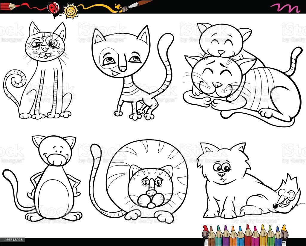 people with pets coloring page vector art illustration