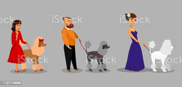 People with poodles vector illustration collection vector id1137175656?b=1&k=6&m=1137175656&s=612x612&h=yqdznsrkmrf2psht8fwx9ysamncw7zagdhyiupbso0w=