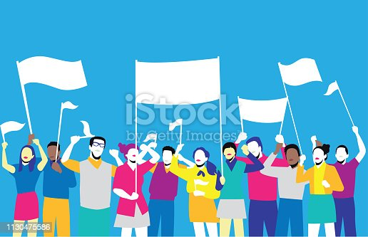 istock People with raised arms 1130475586