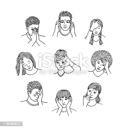 istock People with sad and depressed faces 1190989327