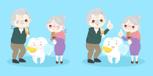 people with sensitive tooth - old man showing thumbs up cartoons stock illustrations, clip art, cartoons, & icons