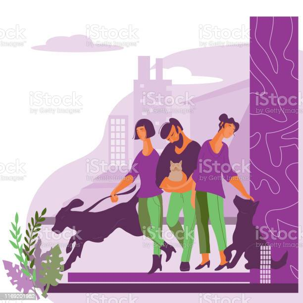 People with their pets on the fantasy cityscape background flat vector id1169201982?b=1&k=6&m=1169201982&s=612x612&h=alwe4nc9ta8u7dp1vmoy vsttfuybldwsowoys1kymw=