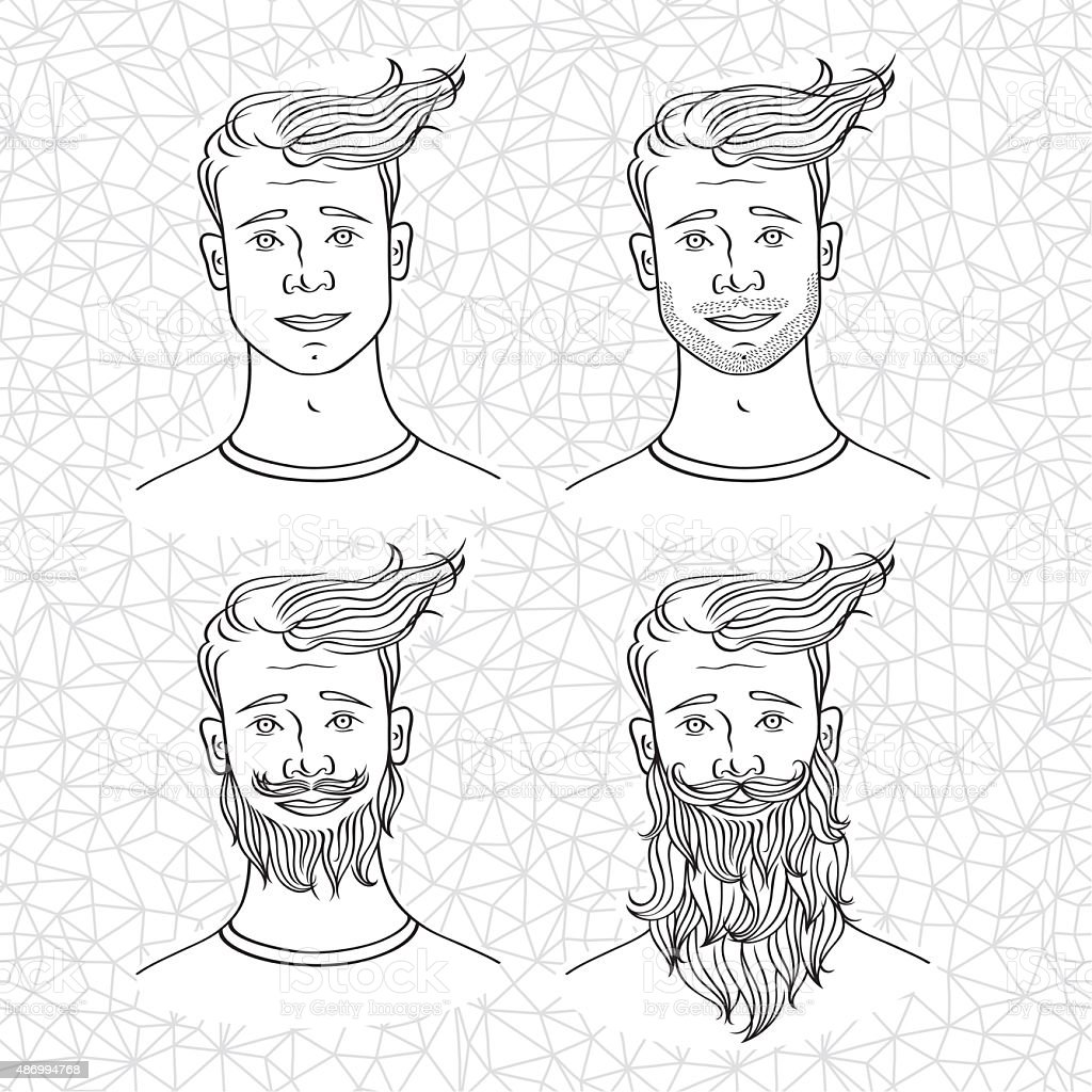 people6 vector art illustration