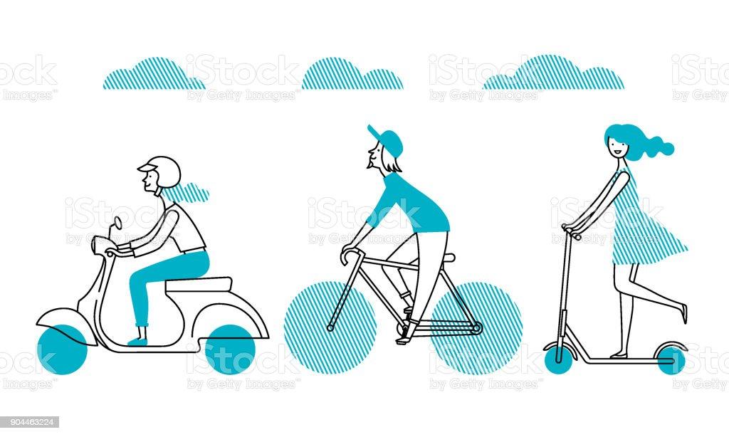 People_figure4 vector art illustration