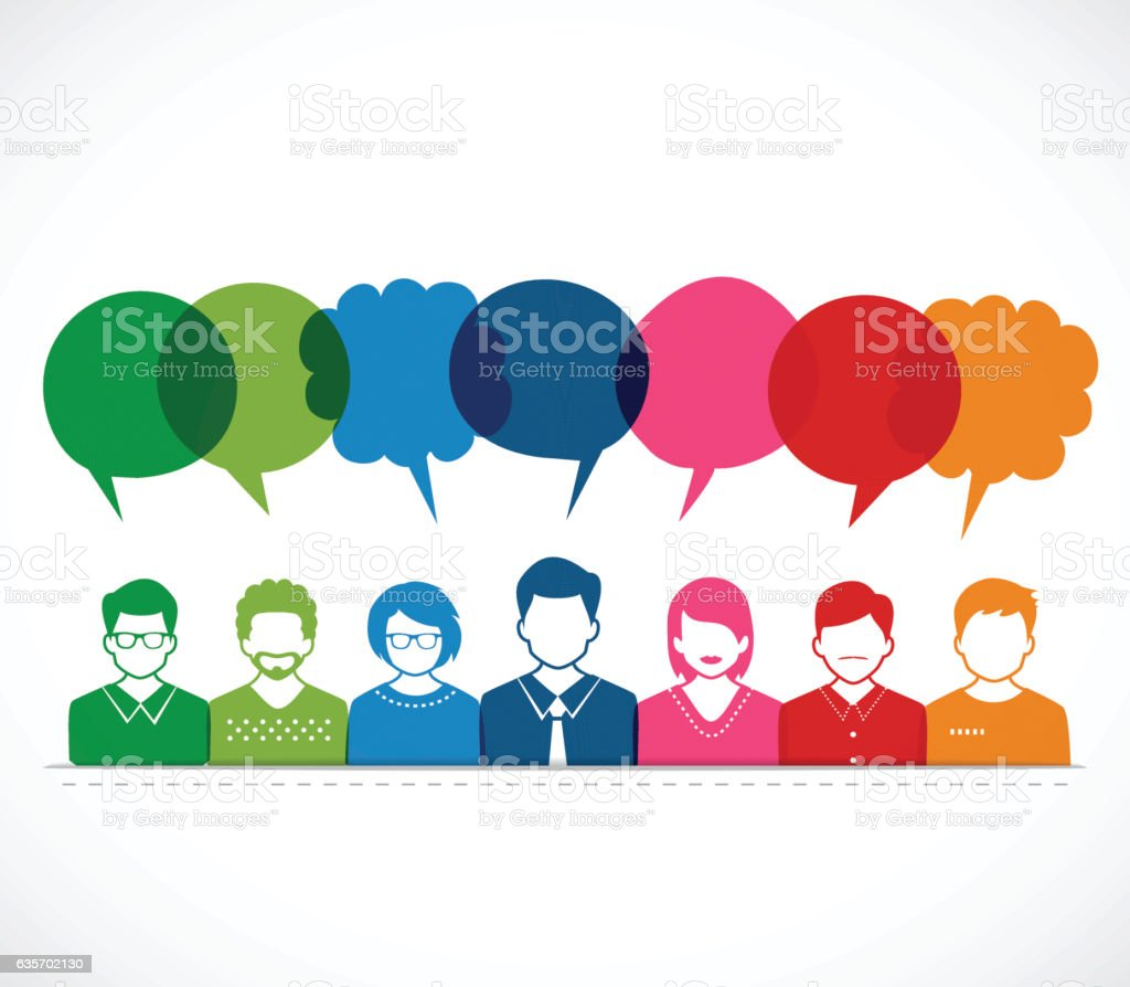 Peoples and Talking Ballons royalty-free peoples and talking ballons stock vector art & more images of brainstorming