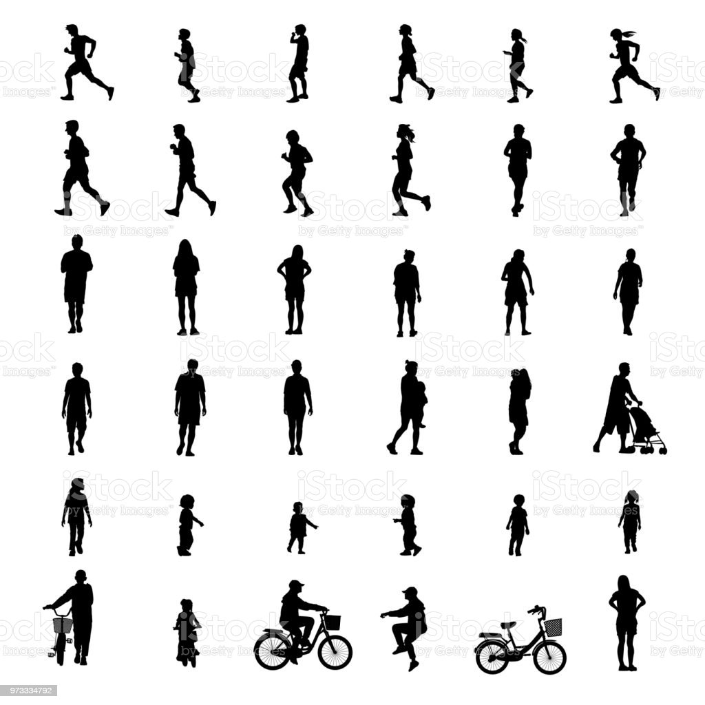 peoples exercise isolated on white background as healthy concept. vector illustration. royalty-free peoples exercise isolated on white background as healthy concept vector illustration stock illustration - download image now
