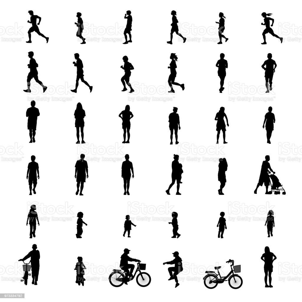 exercício de povos isolado em fundo branco como conceito saudável. ilustração em vetor. vetores de exercício de povos isolado em fundo branco como conceito saudável ilustração em vetor e mais imagens de adulto royalty-free
