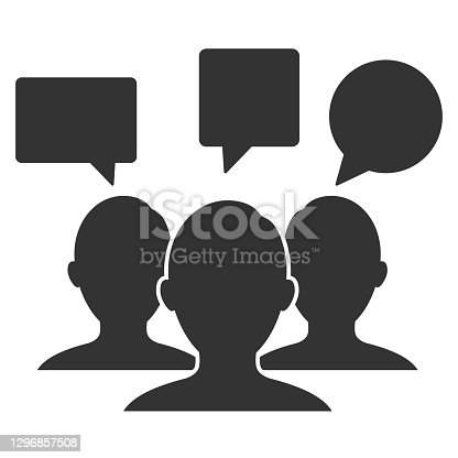 istock People's icon silhouettes , team icon .Social icon Avatar Group Vector Icon Flat design. User group network. Corporate team group. Community member icon. 1296857508