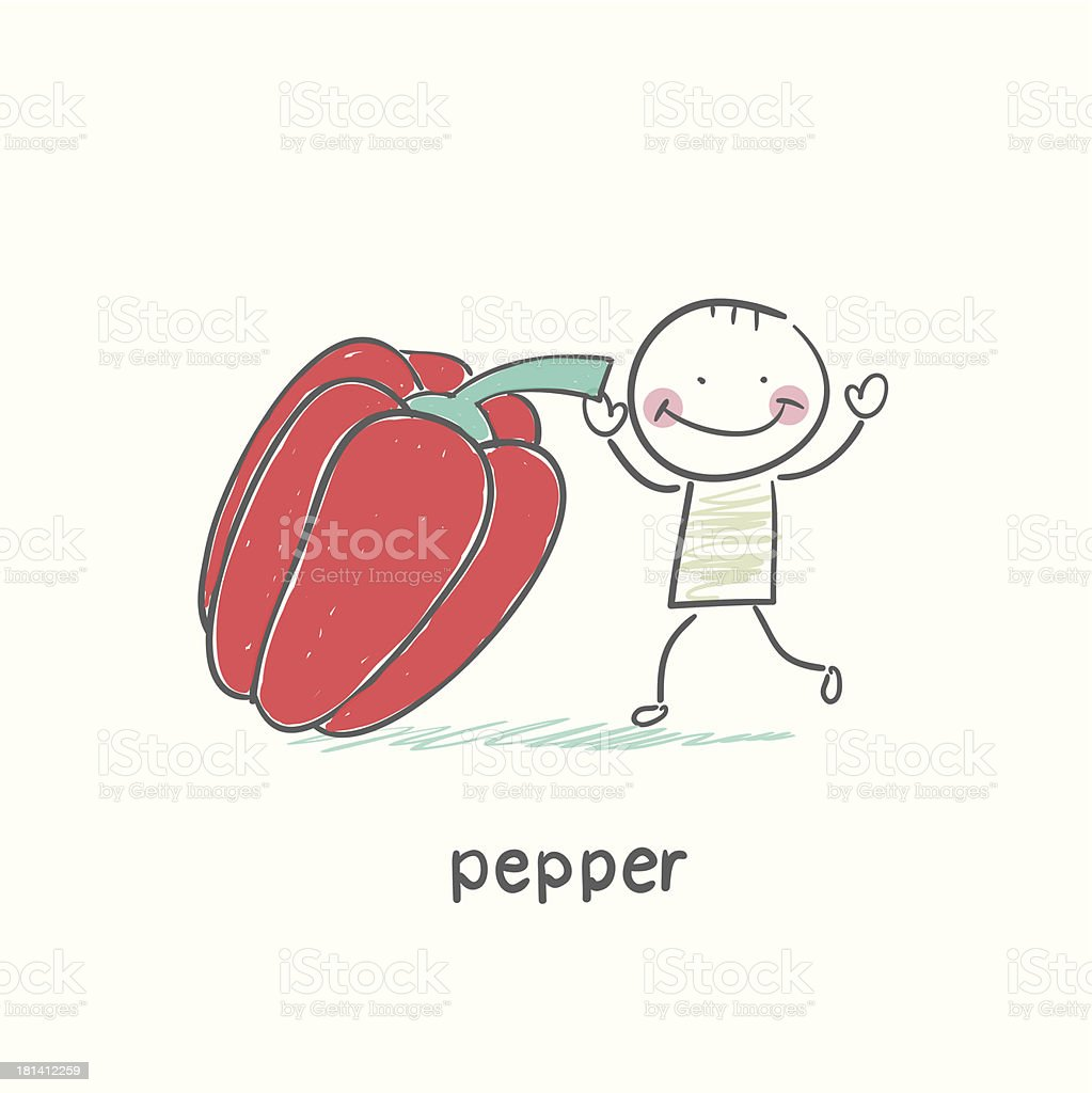 Pepper and people royalty-free stock vector art