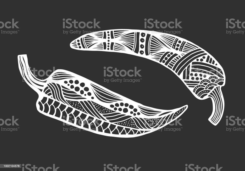 pimienta estilo dibujado ilustración de pimienta estilo dibujado y más  banco de imágenes de abstracto libre 30c707dbe9a
