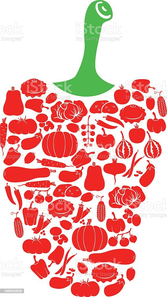 Pepper of vegetables royalty-free pepper of vegetables stock vector art & more images of bean