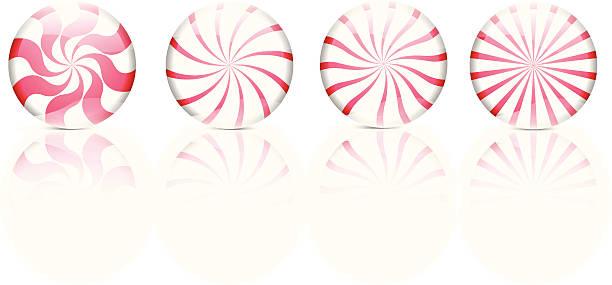 illustrations, cliparts, dessins animés et icônes de bonbon à la menthe rouge et blanc-illustration vectorielle - pastille