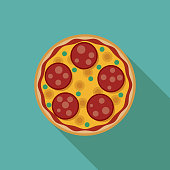 Pepperoni Pizza Bagel Icon