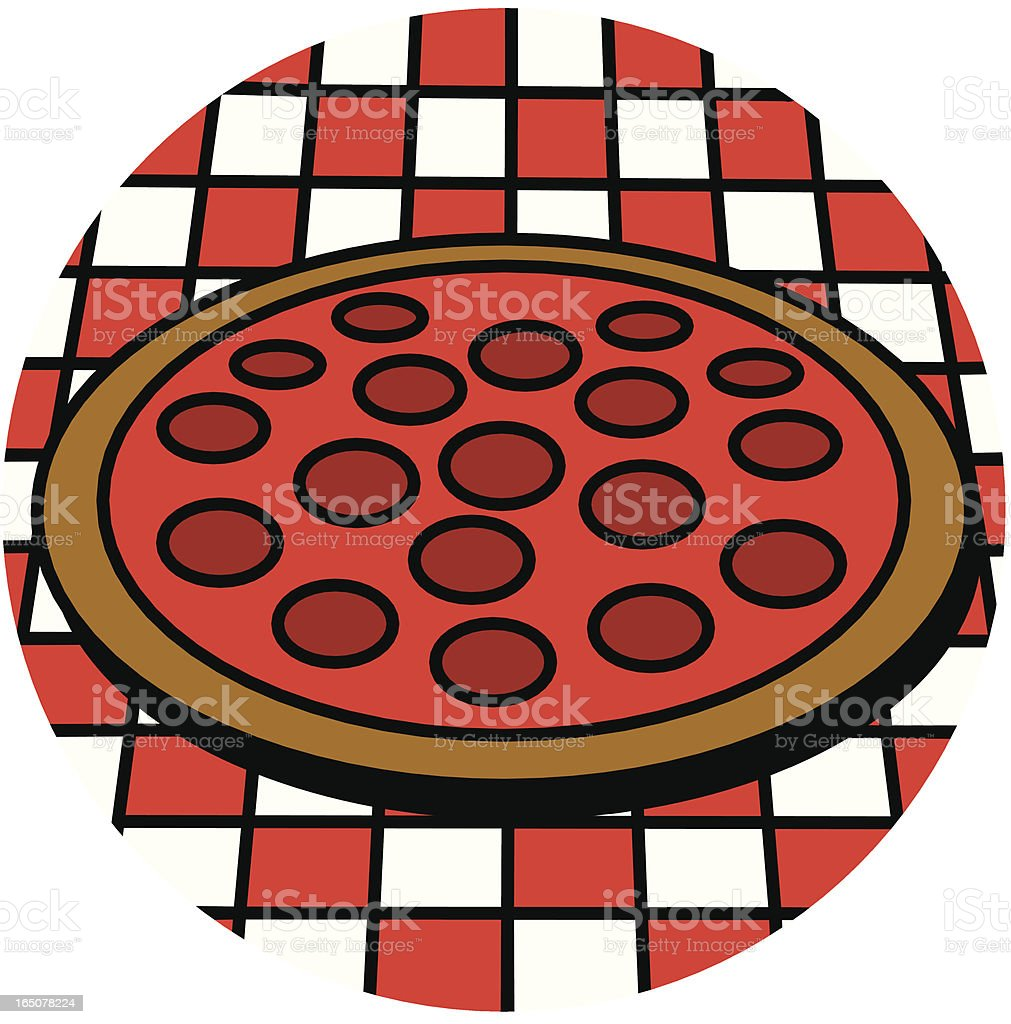 pepperoni pizza royalty-free stock vector art