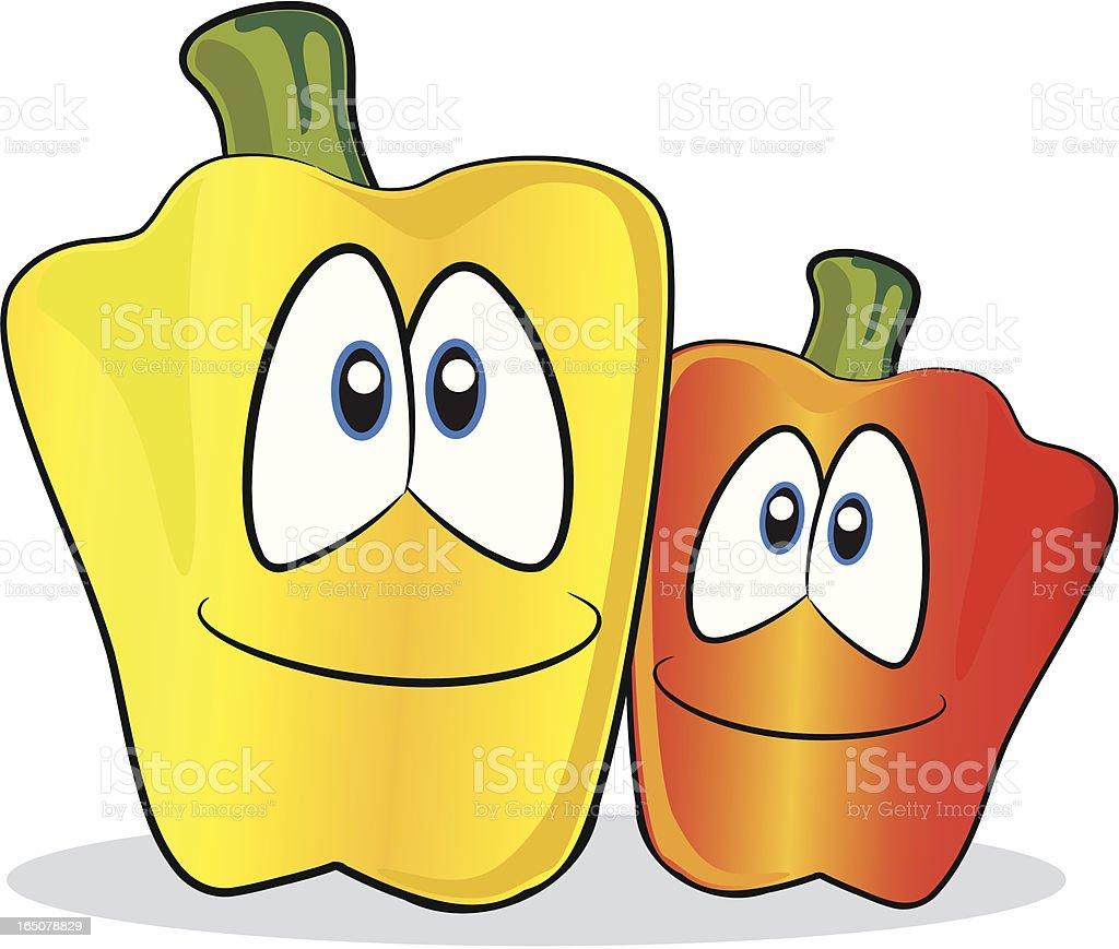 Peppers Cartoon vector art illustration