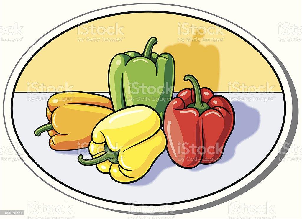 peppers vector art illustration