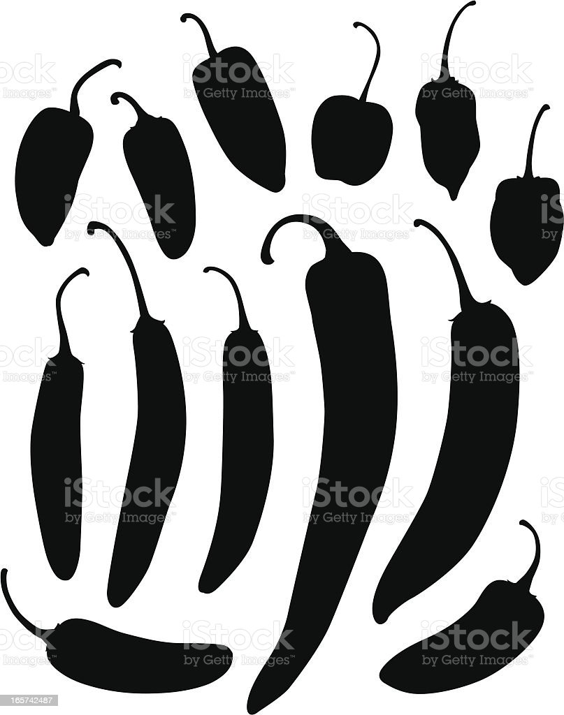 Peppers royalty-free peppers stock vector art & more images of chili pepper