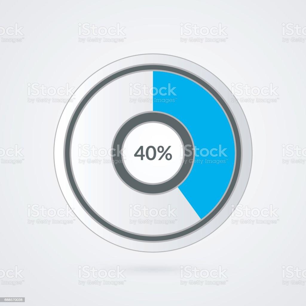 Ilustración de 40 Azul Gris Y Blanco Gráfico Infografía De Vector De ...