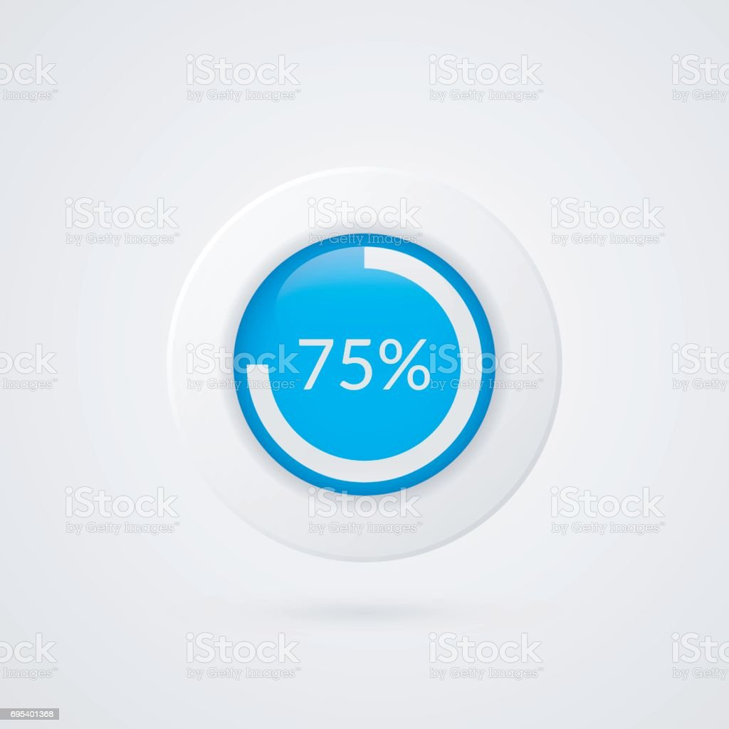 75 percent blue pie chart percentage vector infographics circle 75 percent blue pie chart percentage vector infographics circle diagram isolated symbol business ccuart Choice Image