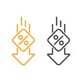 istock Percent Down Line Icon Vector Design. 1267176809