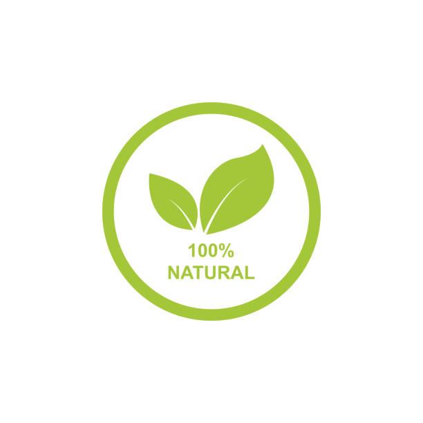 100 percent natural label vector 100 percent natural label vector natural condition stock illustrations