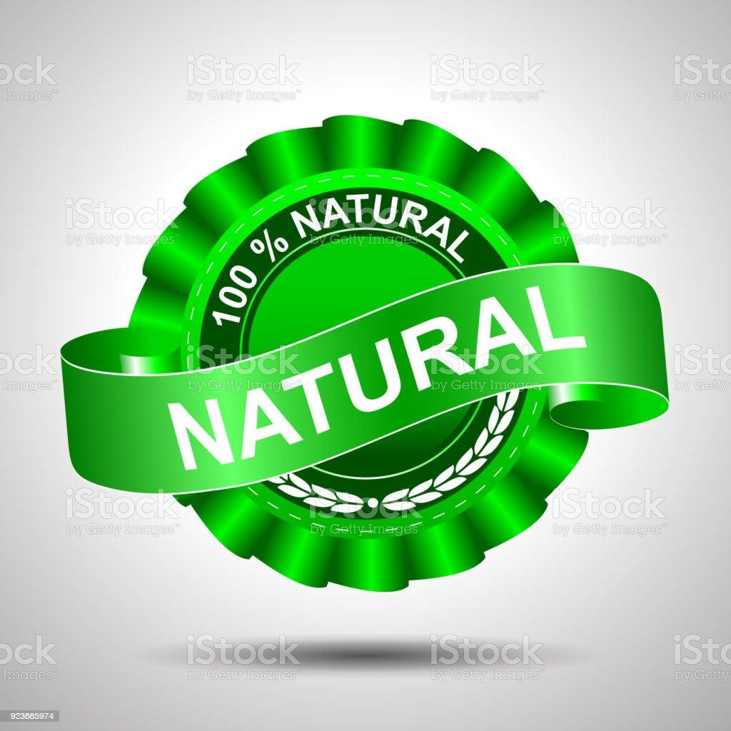 100 percent natural – stock vector vector art illustration