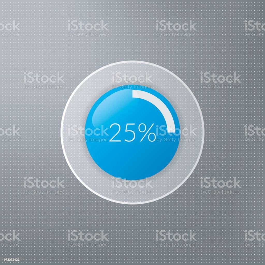 Ilustrao de cone de grfico de pizza de 25 por cento infogrficos cone de grfico de pizza de 25 por cento infogrficos do vetor de porcentagem ccuart Images