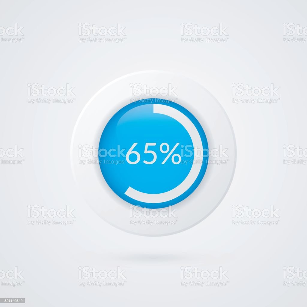 65 percent pie chart percentage vector infographics circle diagram percentage vector infographics circle diagram isolated symbol business illustration ccuart Choice Image
