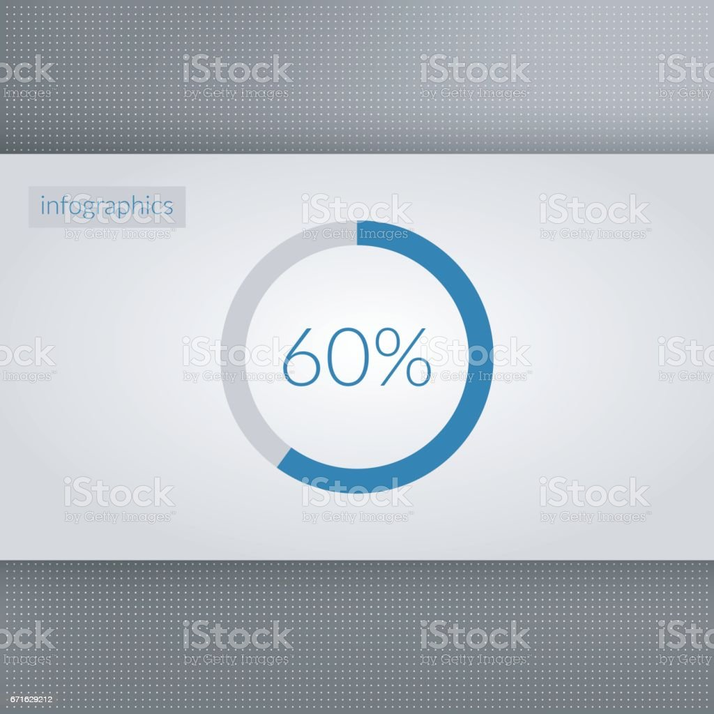 60 percent pie chart symbol percentage vector infographics circle 60 percent pie chart symbol percentage vector infographics circle diagram sign isolated on dotted ccuart Images