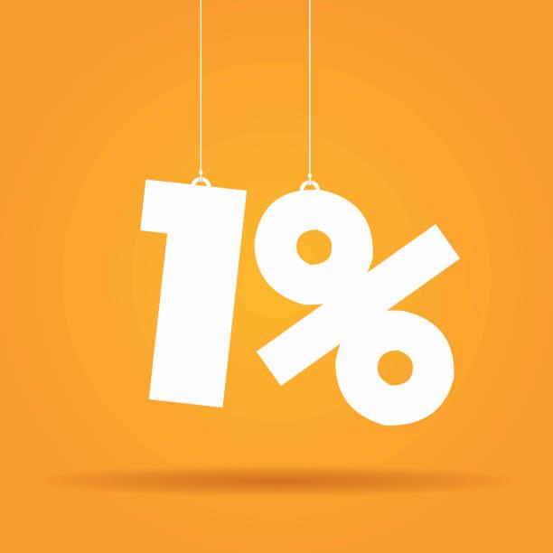 Prozentsatz hängen label – Vektorgrafik