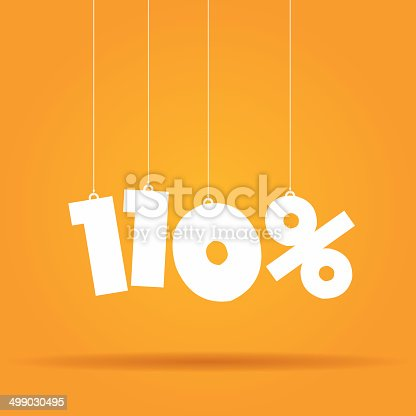 istock Percentage hanging label 499030495