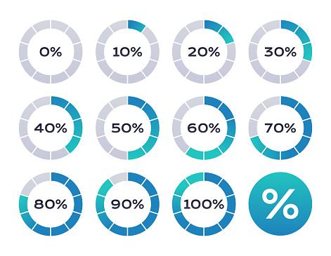 percentage infographics stock illustrations