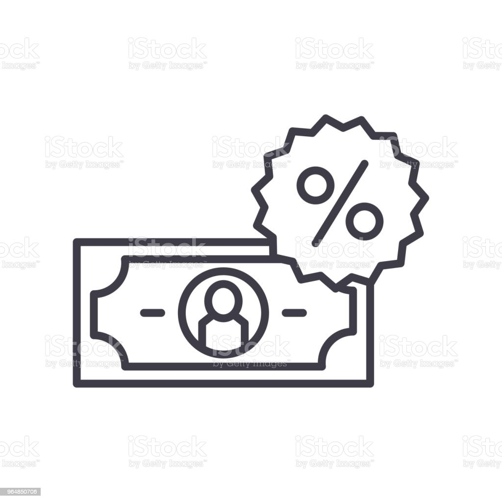 Percentage rate black icon concept. Percentage rate flat  vector symbol, sign, illustration. royalty-free percentage rate black icon concept percentage rate flat vector symbol sign illustration stock vector art & more images of bag