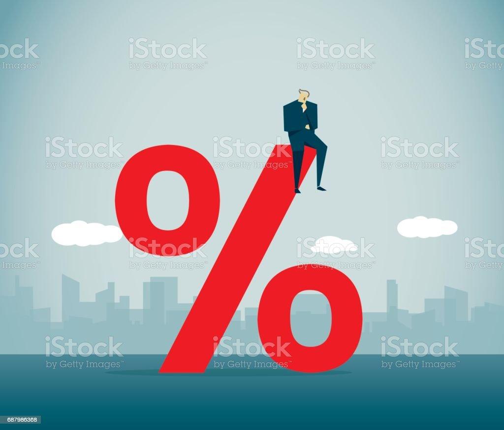 Percentage Sign vector art illustration