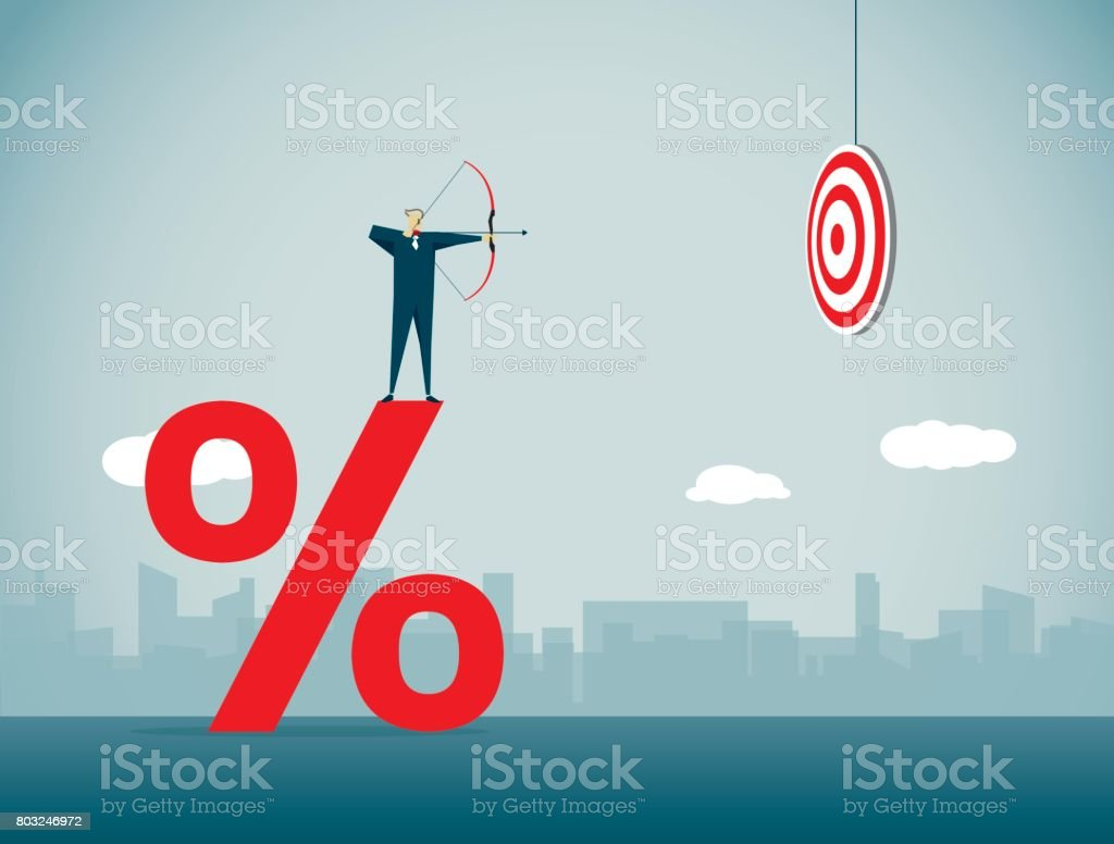 Percentage Sign Illustration and Painting Abstract stock vector