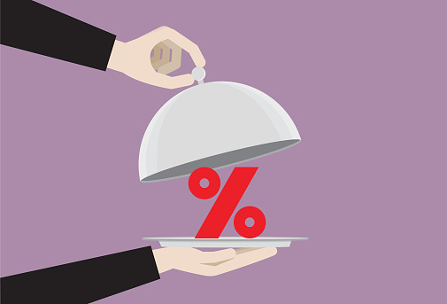 Percentage symbol in a food cloche