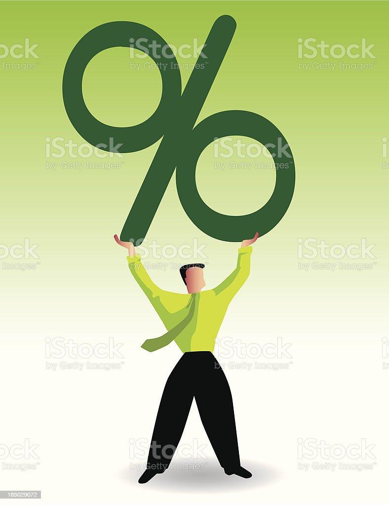 percentage royalty-free stock vector art
