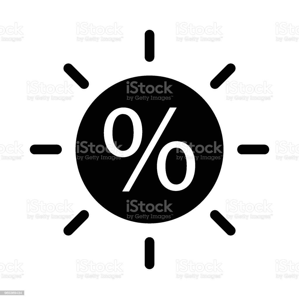 백분율 비율 - 로열티 프리 0명 벡터 아트