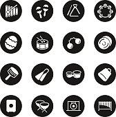 Percussion Music Icons - Black Circle Series