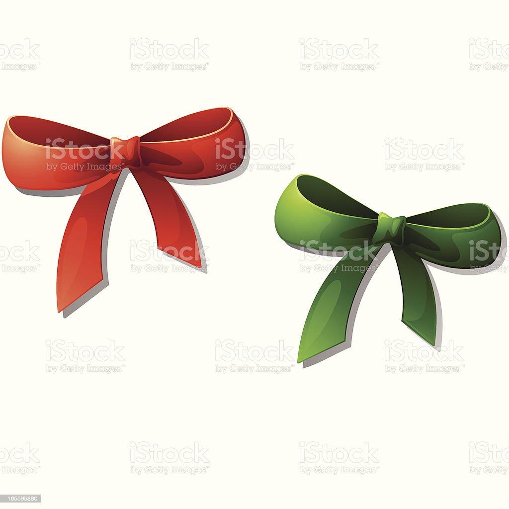 Perfecta Bows: rojo y verde ilustración de perfecta bows rojo y verde y más banco de imágenes de aniversario libre de derechos