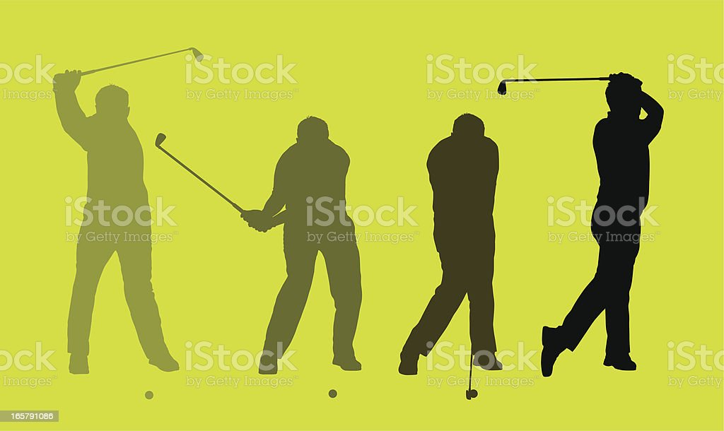 Perfect Golf Swing vector art illustration