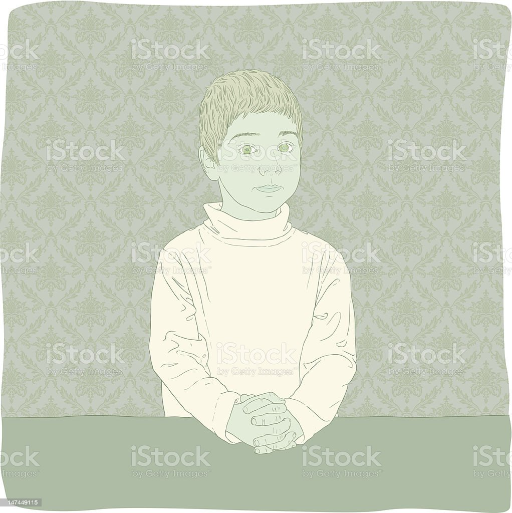 Perfect Little Angel royalty-free stock vector art