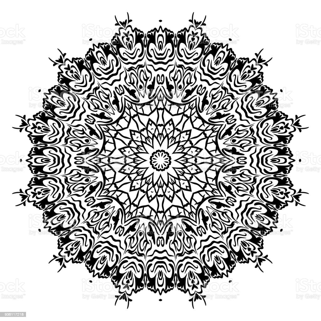 Perfect Mandala Modern Decorative Cicle Vector Shapes Vector